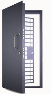 Дверь бронированная с решеткой - от 55000 р.