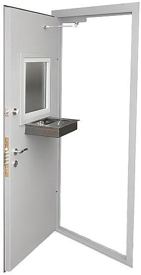 Дверь бронированная с окном и лотком от 43000 р.
